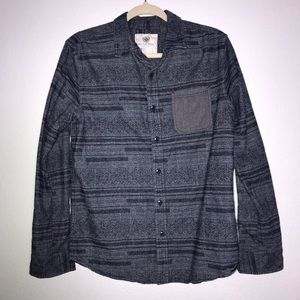 On The Byas Mens Button Down Shirt